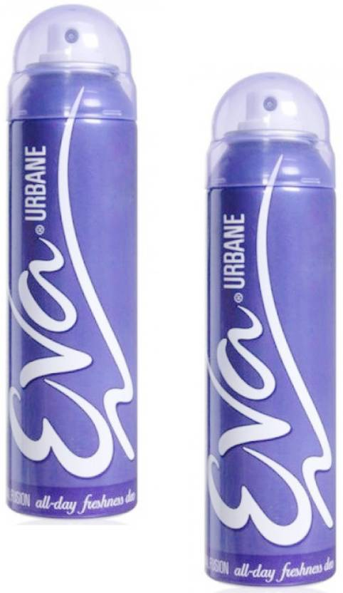 Eva Urbane Fruit Fantasy (Pack of 2) Deodorant Spray  -  For Women (125 ml, Pack of 2)