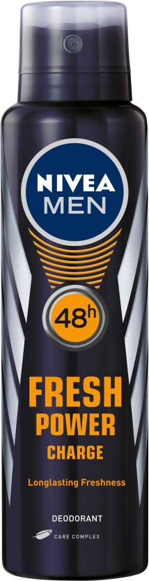 Nivea Men Fresh Power Charge Body Spray  -  For Men (150 ml)