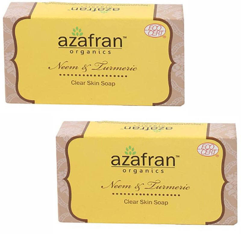 Azafran Neem & Turmeric Clear Skin Soap (100 g, Pack of 2)