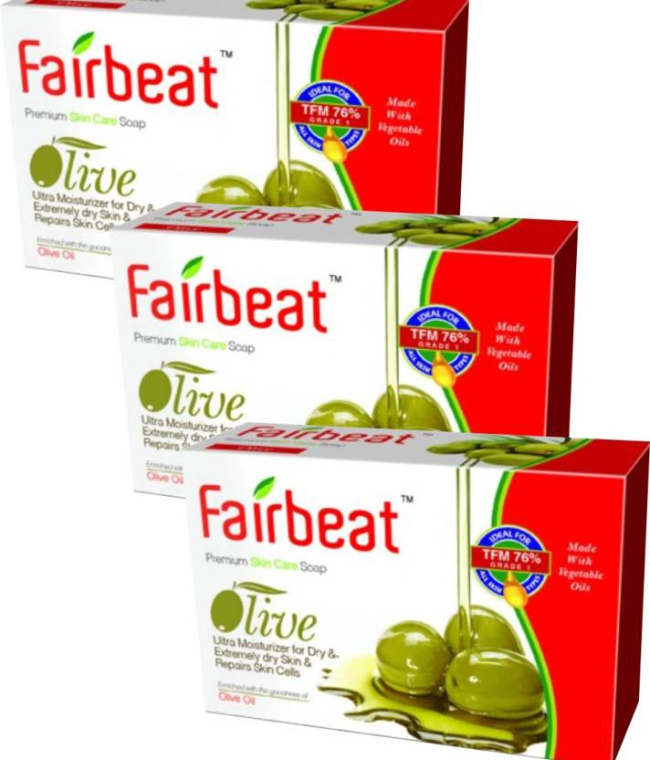 Fairbeat Olive Soap (225 g, Pack of 3)