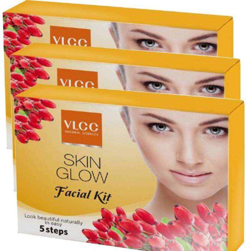 VLCC Skin Glow Facial Kit Pack of 3 75 g (Set of 3)