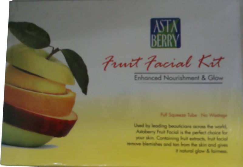 Astaberry Fruit Facial Kit - Enhanced Nourishment & Glow 52 g (Set of 4)