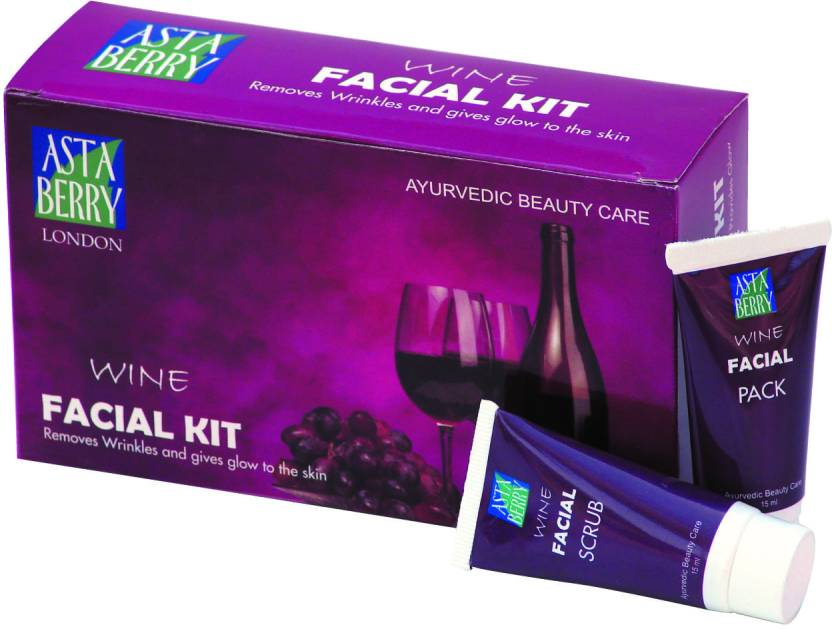 Astaberry Wine Facial Kit (Set of 4)