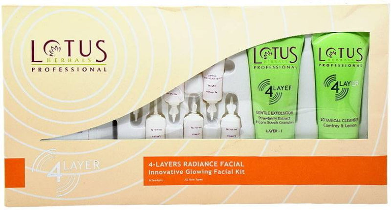 Lotus Professional 4 Layers Radiance Facial Innovative Glowing Facial Kit 380 g (Set of 4)