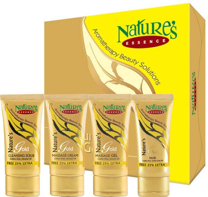 Nature's Essence Gold Facial Kit - Medium Pack(170 g + Free 42.5 g Extra) 212.5 g (Set of 4)
