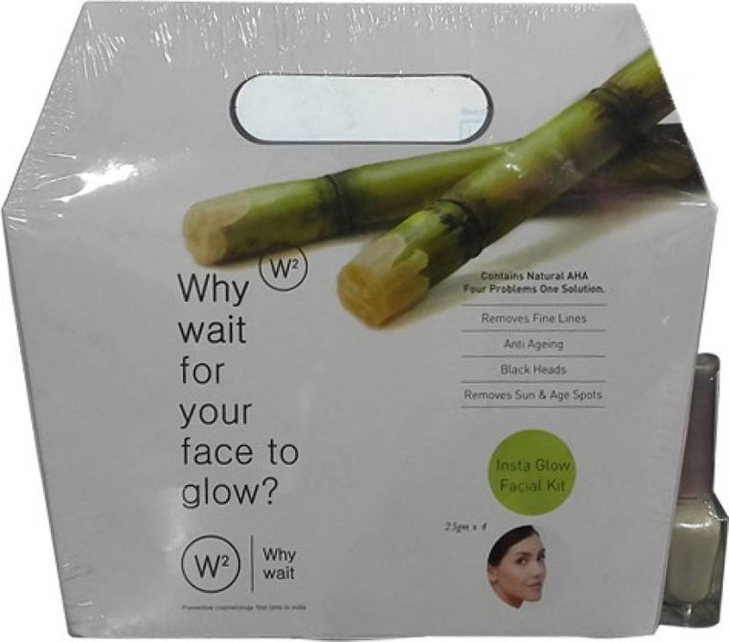 W2 Insta Glow Facial Kit 100 g (Set of 4)