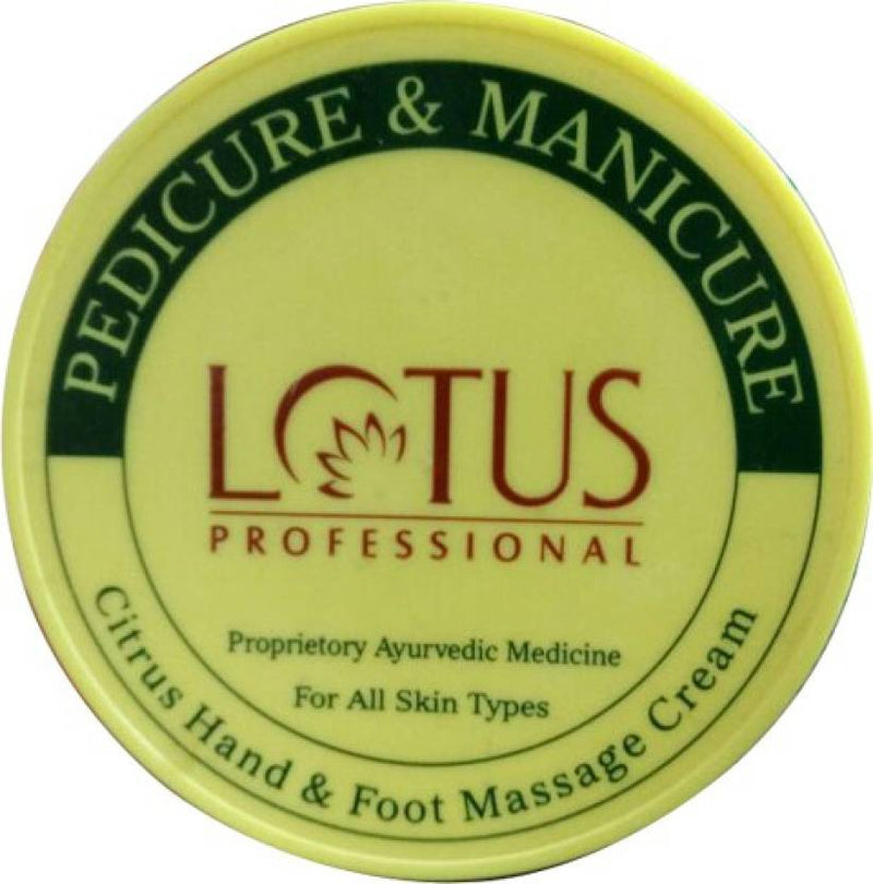 Lotus Professional Pedicure and Manicure Citrus Hand and Foot Massage Cream (300 ml)