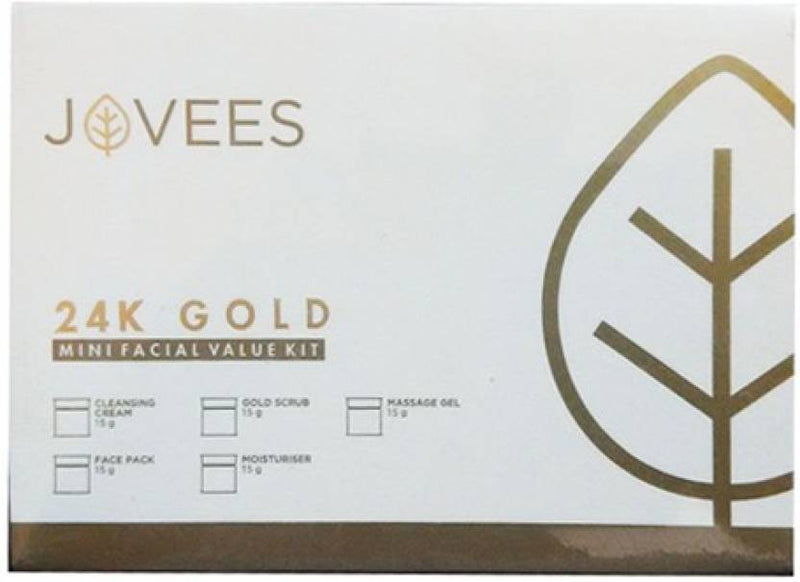 Jovees 24K Gold Mini Facial Kit 75 g (Set of 5)