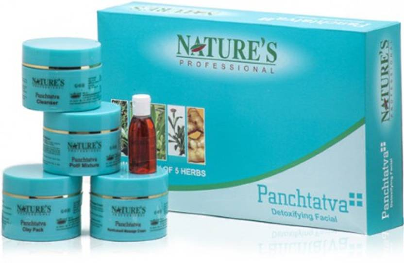 Nature's Panctatva Detoxifying Facial kit 485 g (Set of 5)