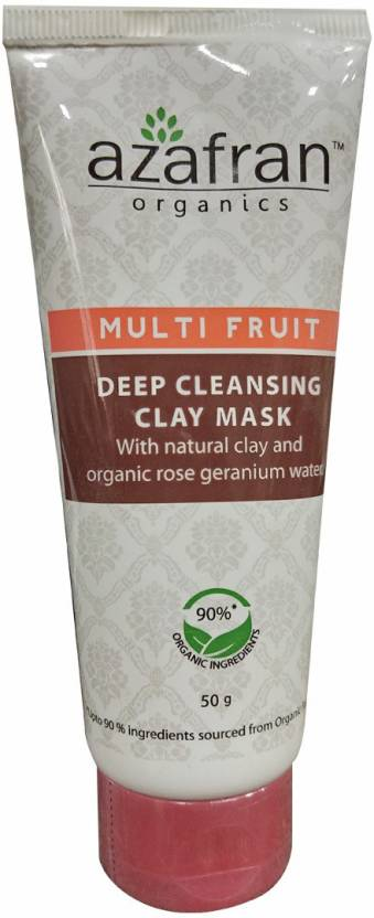 Azafran Multi Fruit Deep Cleansing Clay Mask (50 g)