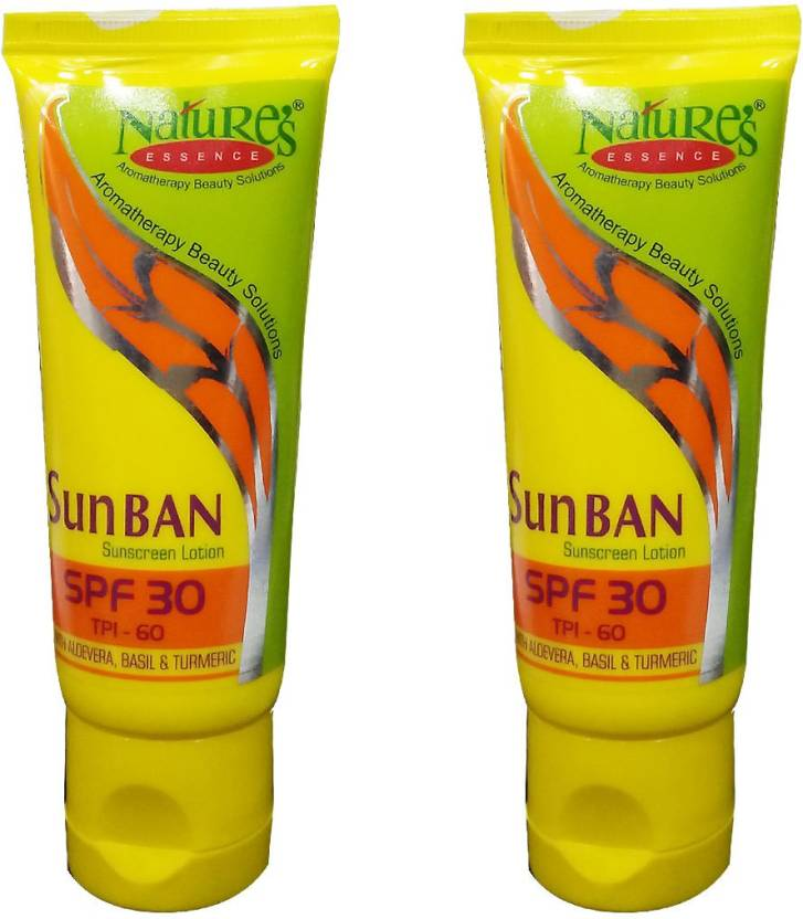 Nature's Essence Sun Ban Sunscreen Lotion Spf 30 Pack of 2 - SPF 30 PA+ (60 ml)