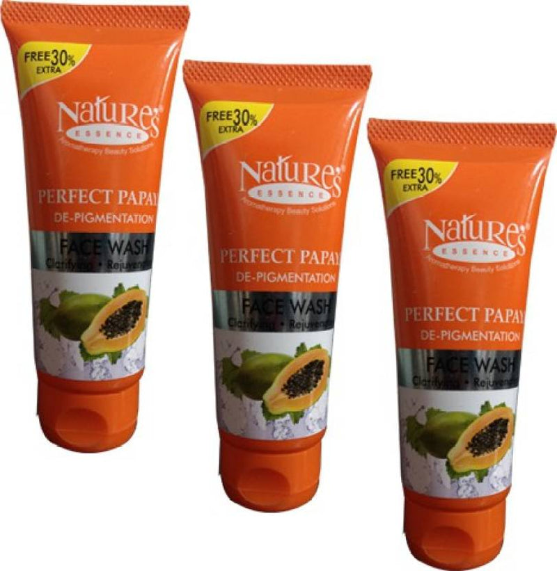 Nature's Perfect Papaya De-Pigmentation Pack of 3 Face Wash (65 ml)