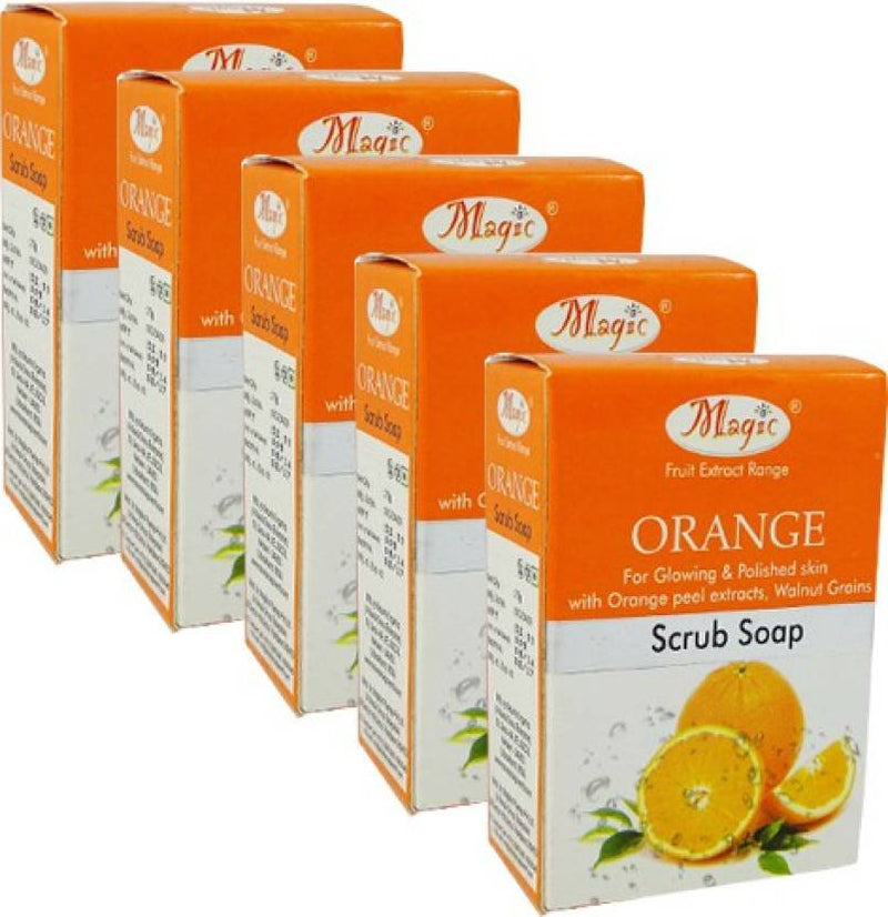 Nature's Orange Scrub Soap Pack of 5 (75 g)