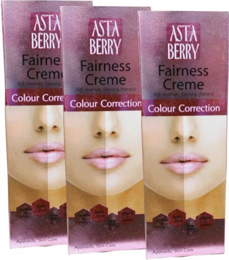 Astaberry Color Correction Fairness Cream-Pack of 3 (50 g)