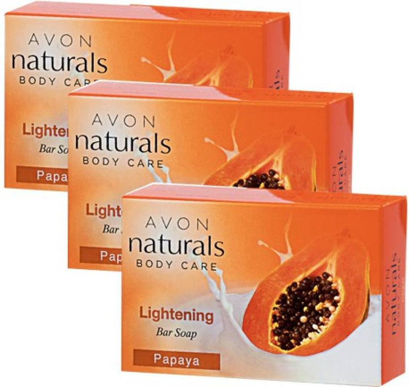 Avon Natural Papaya Bar Soap Pack of 3 (100 g, Pack of 3)