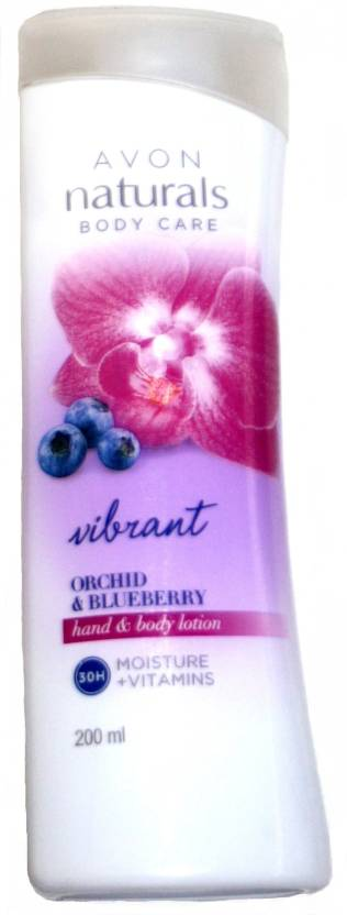 Avon Naturals Body Care Vibrant Orchid And Blueberry Hand And Body Lotion (200 ml)