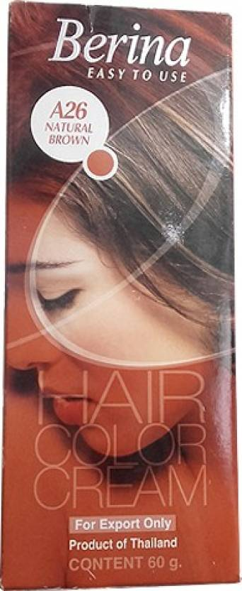 Berina Cream Hair Color (A26 Natural Brown)