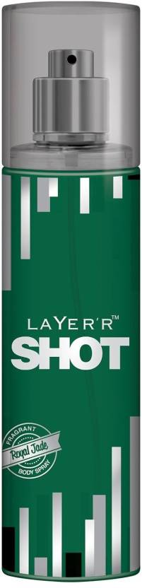 Layer'r Shot Royal Jade Body Spray  -  For Men & Women (135 ml)