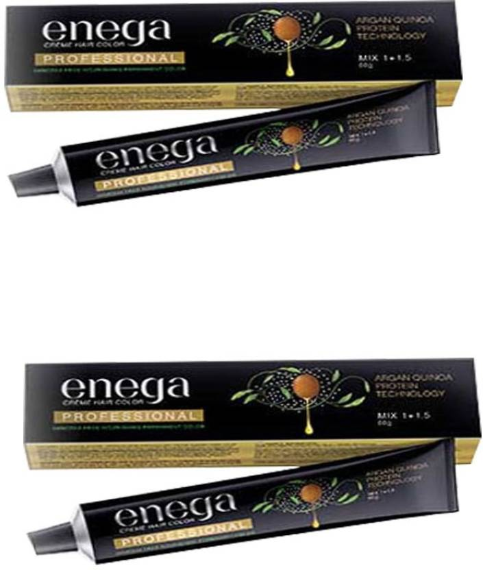 enega Creme Hair Color 3 Dark Brown (Pack of 2) Hair Color (Dark Brown)