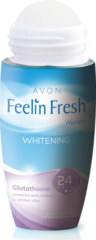 Avon Feelin Fresh Whitening Glutathione Powerful Anti-Oxidant to whiten Skin Deodorant Roll-on  -  For Women (40 g)