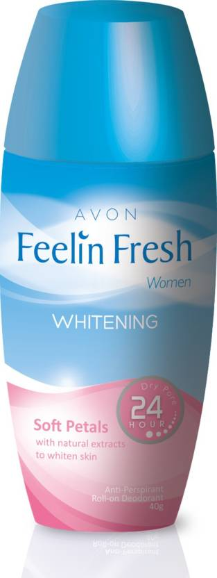 Avon Feelin Fresh Whitening Clean with Natural Extracts to whiten Skin Deodorant Roll-on  -  For Women (40 g)