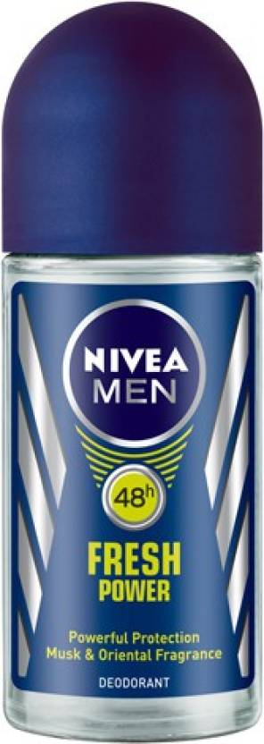 Nivea Men Fresh Power Deodorant Roll-on  -  For Men (50 ml)