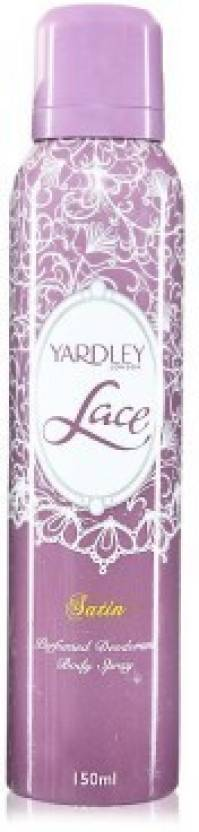 Yardley London Lace Satin Perfume Body Spray  -  For Women (150 ml)