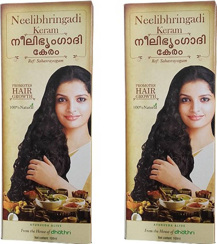 Dhathri Neelibhringadi Keram Pack of 2 Hair Oil (100 ml)