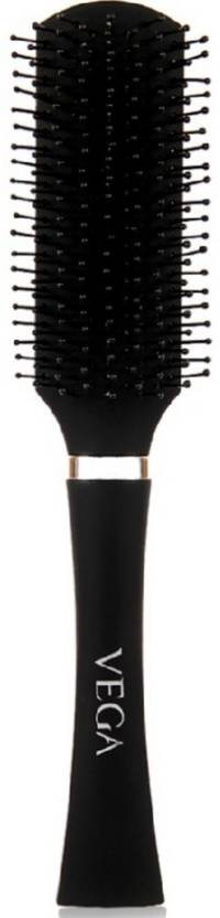 Vega Premium Collection Flat Brush (Black)