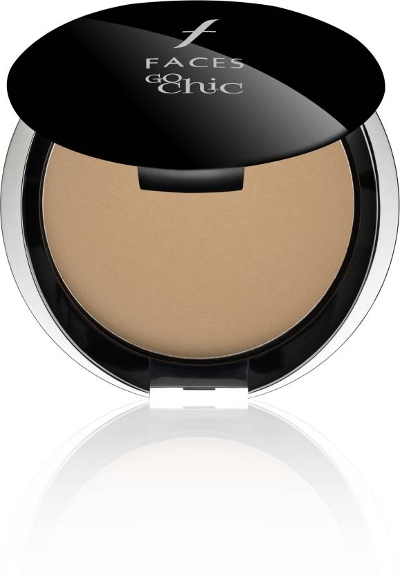 Faces Go Chic Pressed Powder Compact  - 9 g (Sand)