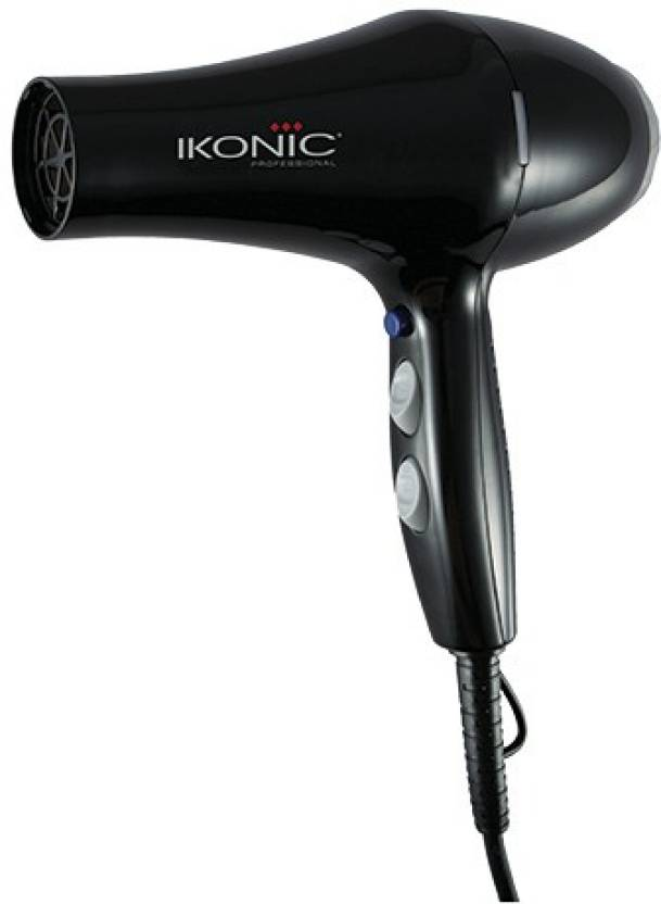 Ikonic Hair Dryer HD-2500 Hair Dryer (Black)