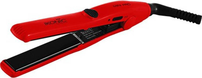 Ikonic Mini Pro Iron Hair Straightener (Red)