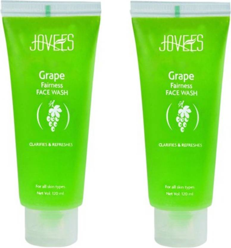 Jovees Grape Fairness Pack of 2 Face Wash (120 ml)