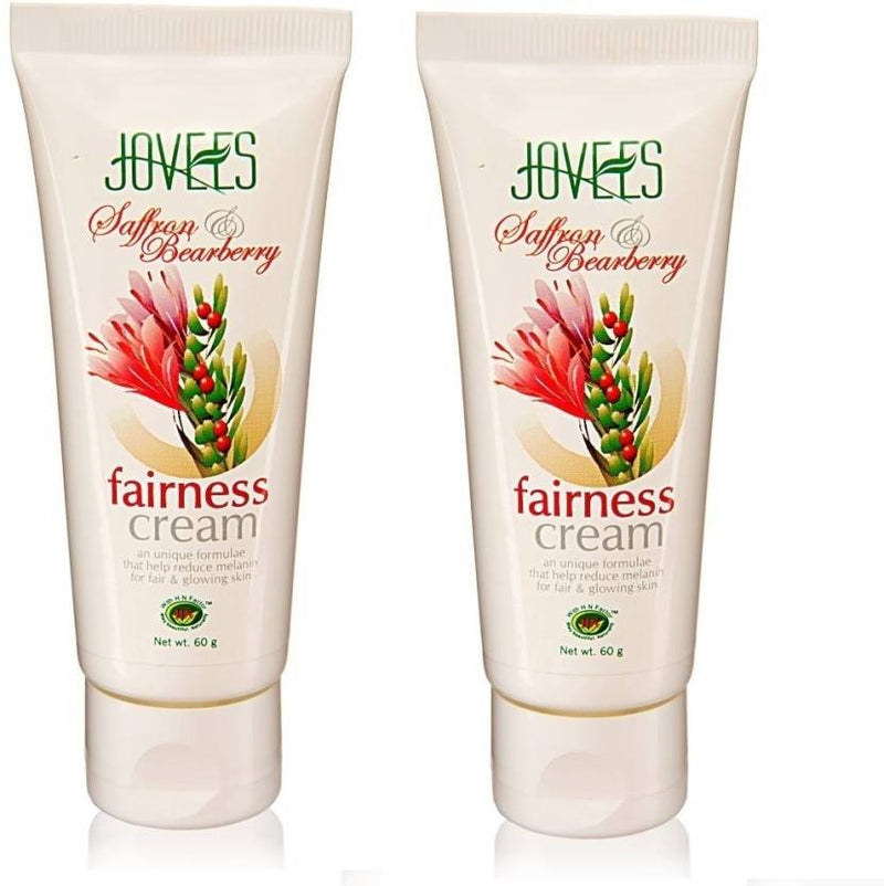 Jovees Saffron & Bearberry Fairness Cream Pack Of 2 (120 g)