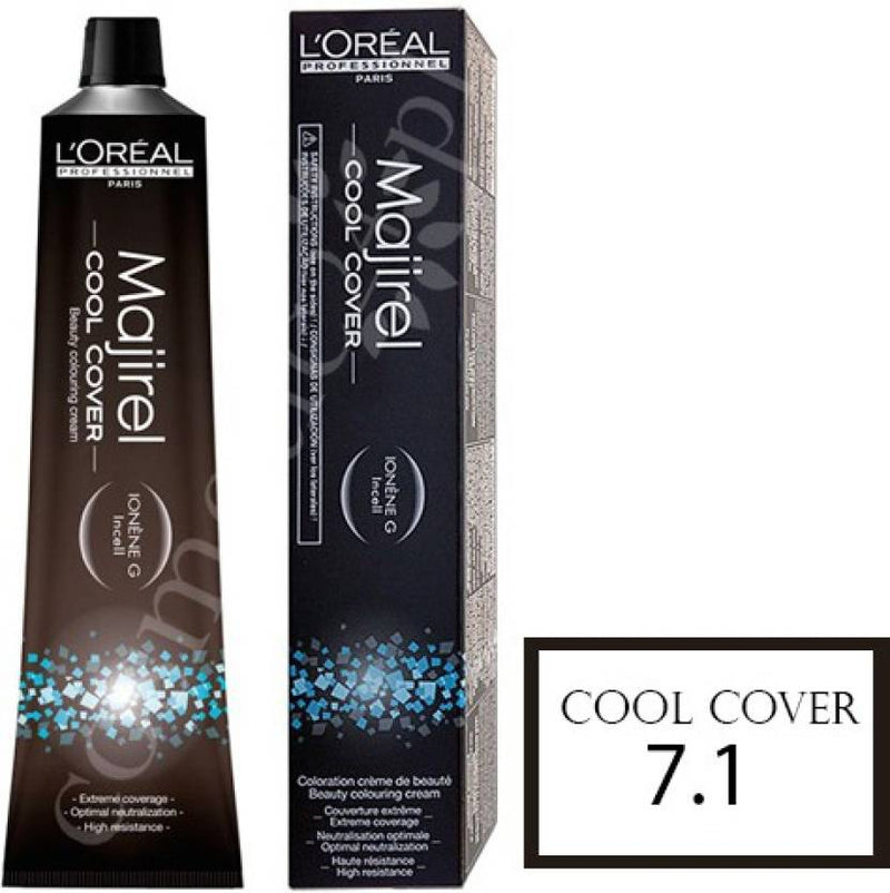 L'Oreal Professionnel Majirel Cool Cover Hair Cream Hair Color (7.1 Ash Blonde)