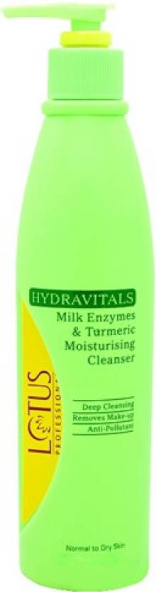 Lotus Herbals Professional Hydravitals Milk Enzymes & Turmeric Moisturising Cleanser (250 ml)