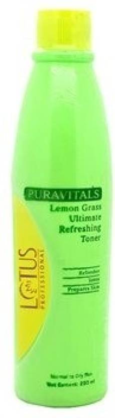 Lotus Professional Puravitals Lemon Grass Ultimate Refreshing Toner (250 ml)