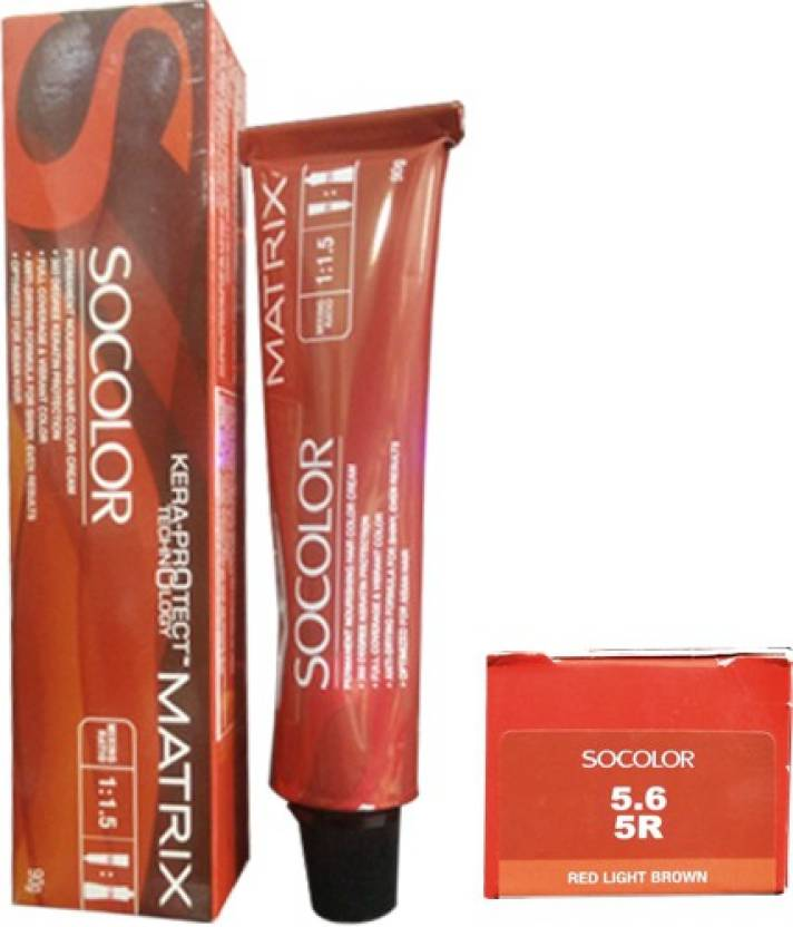 Matrix Socolor Permanent Cream  Hair Color (5.6 Red Light Brown)