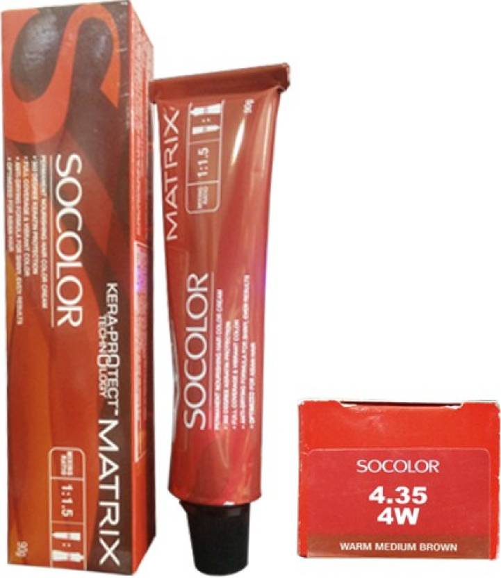 Matrix Socolor Permanent Cream  Hair Color (4.35 Warm Medium Brown)