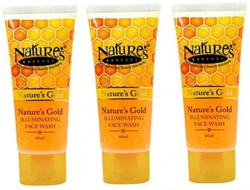 Nature's Essence Gold illuminating Face wash ( Pack Of 3) Face Wash (60 ml)