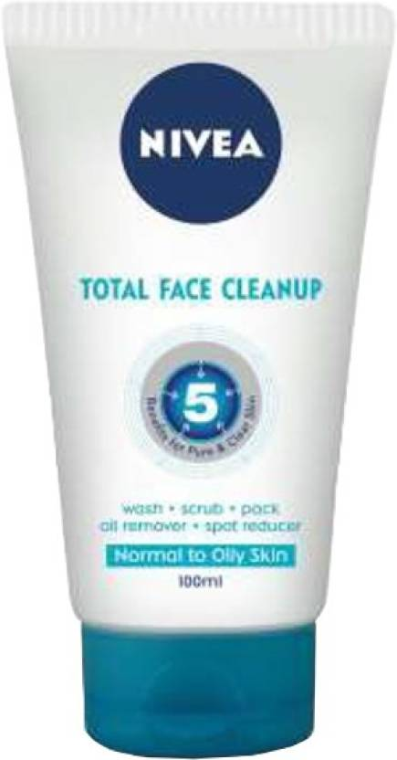 Nivea Total Face Clean Up Face Wash (100 ml)