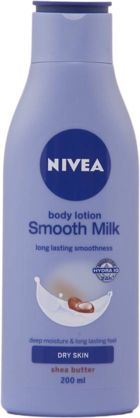 Nivea Body Lotion Smooth Milk Dry Skin Shea Butter (200 ml)