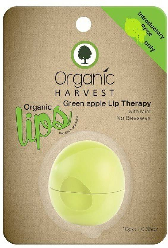 Organic Harvest Lip Therapy With Mint No Beeswax, Green Apple (10 ml)