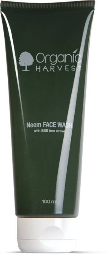 Organic Harvest Neem Face Wash - With BSE Free Active Face Wash (100 ml)