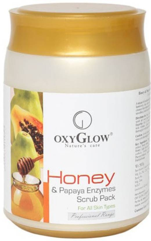 Oxyglow Honey & Papaya Enzymes Pack Scrub (500 g)