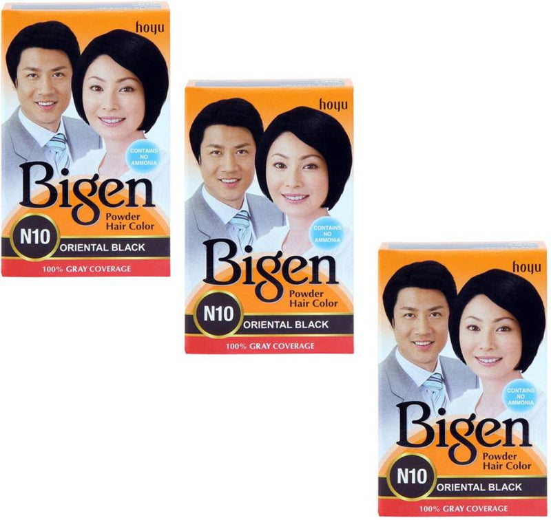 Bigen Powder Hair Color (Pack of 3) Hair Color (Oriental Black)