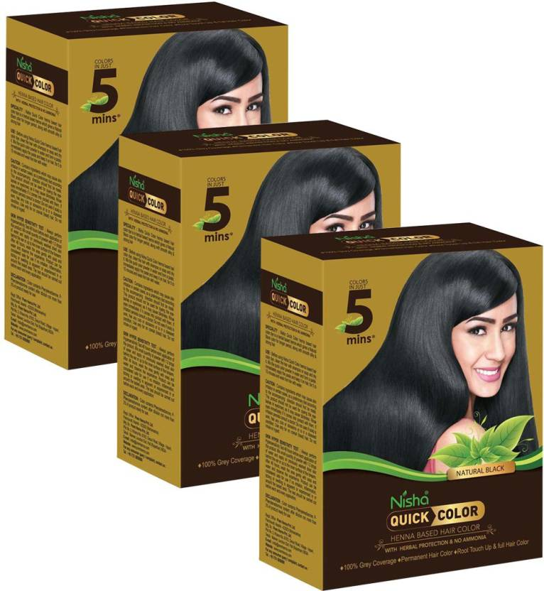 Nisha Quick Color Hair Color (Natural Black)