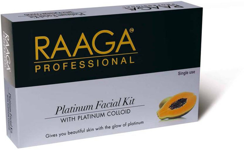 Raaga Professional Platinum Facial Kit with Platinum Colloid 43 g (Set of 7)