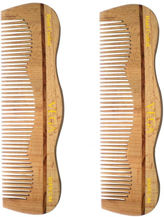 Vega Styling Wooden Comb HMWC 04 Pack of 2