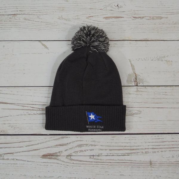 Cow Bobble Hat Graphite Grey